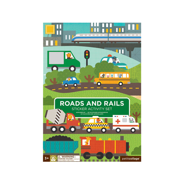 Road and Rails activity sticker book