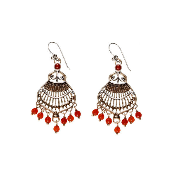 Federal Hall Balustrade Chandelier Earring Carnelian