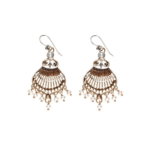 Federal Hall Balustrade Chandelier Earring Pearl