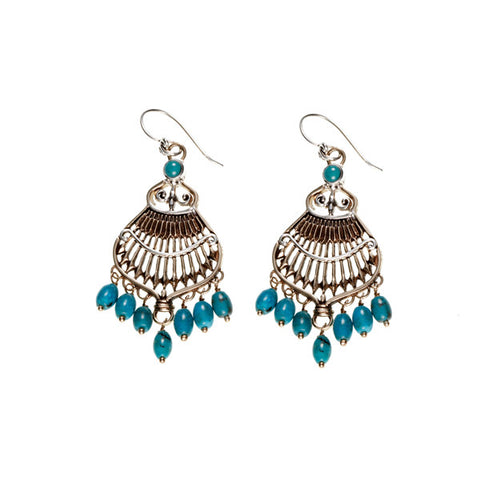 Federal Hall Balustrade Chandelier Earring Turquoise