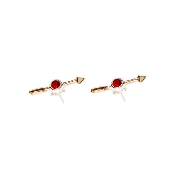 Federal Hall Balustrade Arrow Stud Earring Carnelian