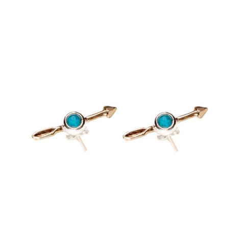 Federal Hall Balustrade Arrow Stud Earring Turquoise