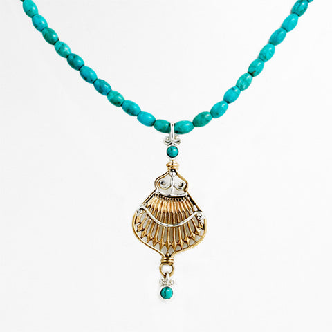 Federal Hall Balustrade Pendant Turquoise
