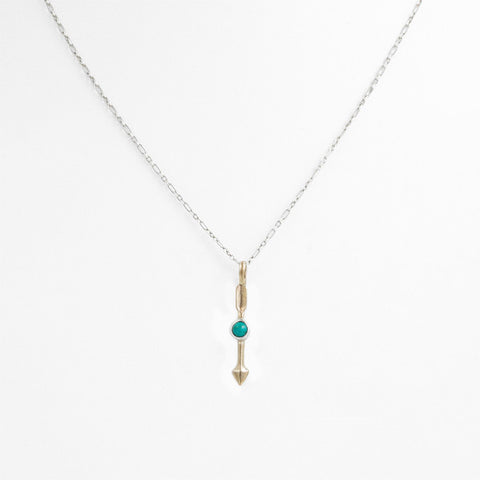 Federal Hall Balustrade Arrow Necklace Turquoise