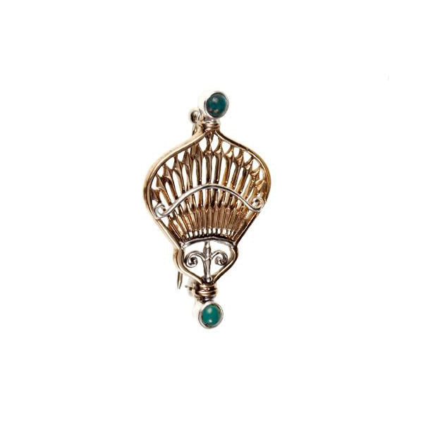 Federal Hall Balustrade Brooch Turquoise