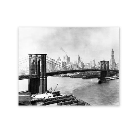 Brooklyn Bridge 1924 Matte Print