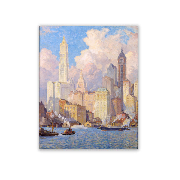 Hudson River Waterfront Canvas Print