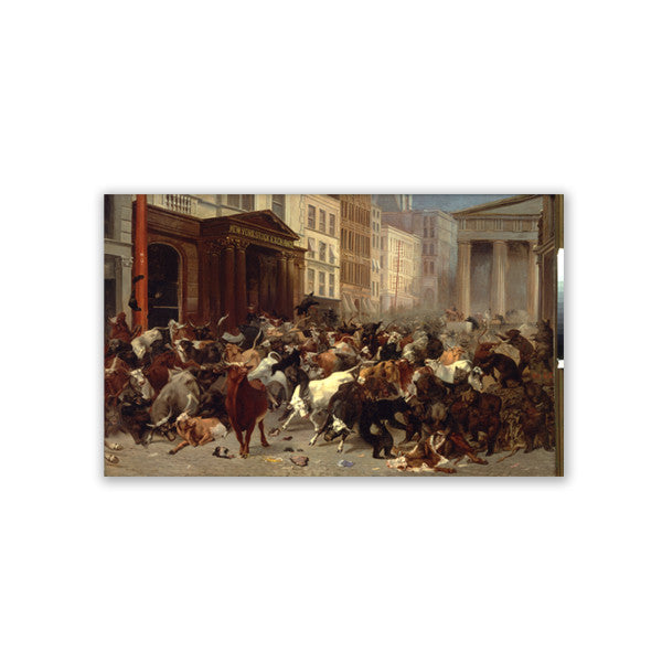 Bulls and Bears Canvas Print - New-York Historical Society Museum Store