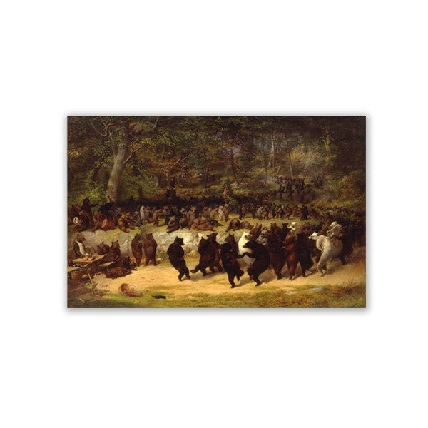 Bear Dance Canvas Print - New-York Historical Society Museum Store