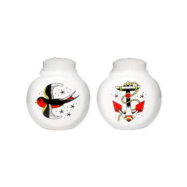 Anchor and Sparrow Salt & Pepper Set - New-York Historical Society Museum Store