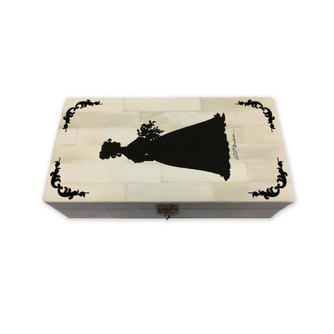 Dolley Madison Schrimshaw Bone Box