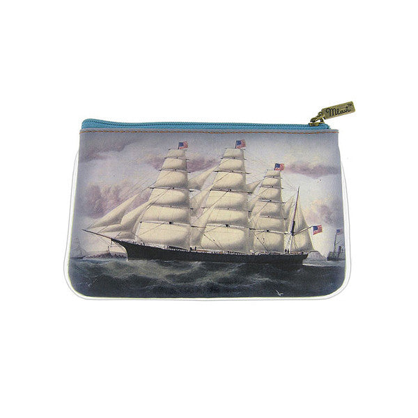 Vintage Image of Sailing Ship Pouch