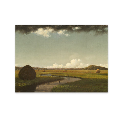 Storm cloud over the marshes Note Card