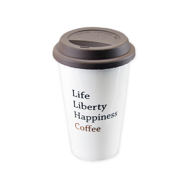 Life Liberty Coffee Travel Mug