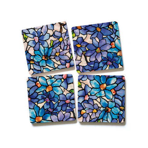 Louis C Tiffany Clematis Coaster (Set of 4)