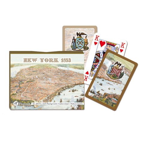New York Map Playing Cards