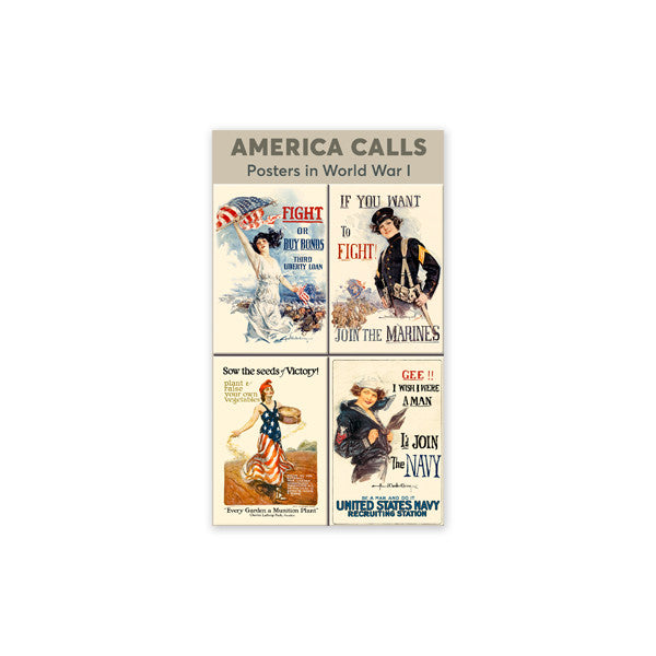 WWI Womens Poster Magnets (Set of 4)