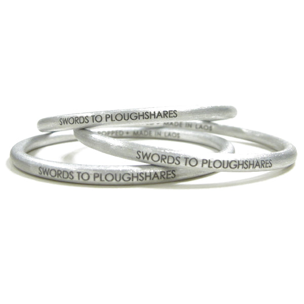 Swords to Ploughshares Bangle Bracelet