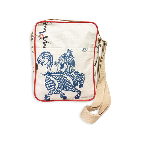 Blue Dragon Recycled Cross Body Bag