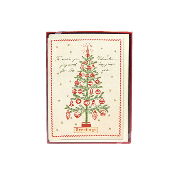 Christmas Tree Greeting boxed note cards