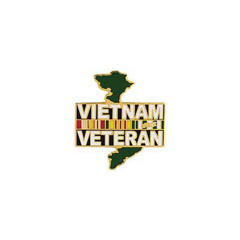Pin Vietnam Veteran over map
