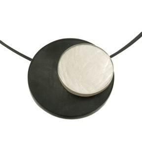 Orbital Necklace with Magnet Closure Black