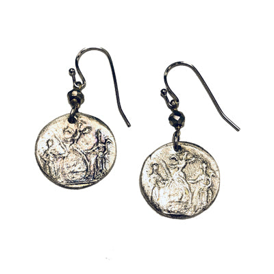 Silver Excelsior Pyrite Earrings