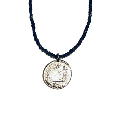 Silver Excelsior Medallion Lolite Necklace