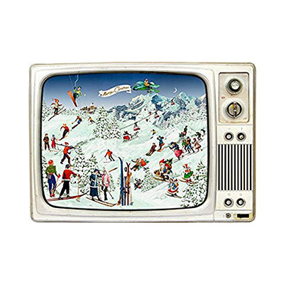 Skiing Scene in Retro TV Advent Calendar