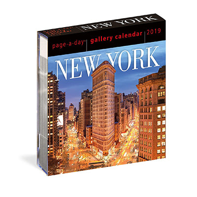 2019 New York Page-A-Day Desk Calendar