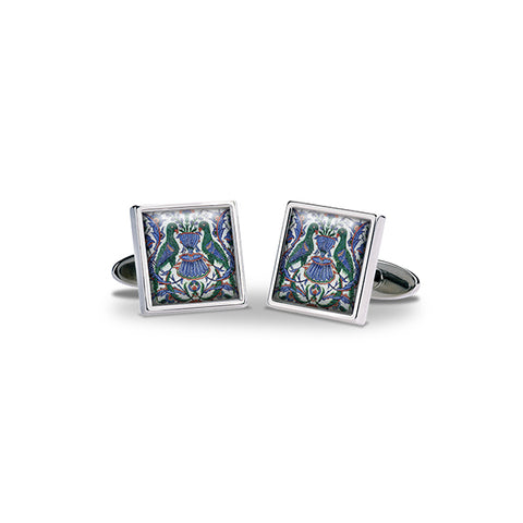 Blue and White Birds Cufflinks