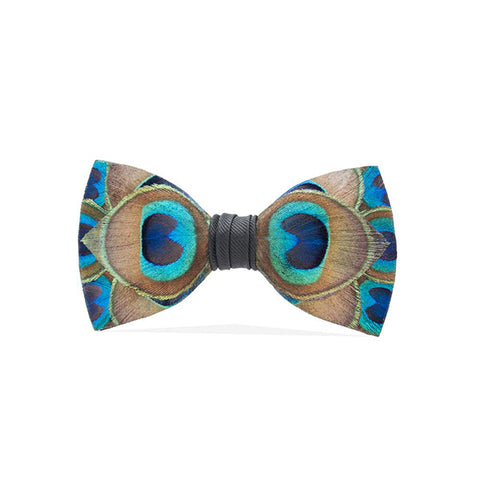 Hammock Peacock Feather Bow Tie