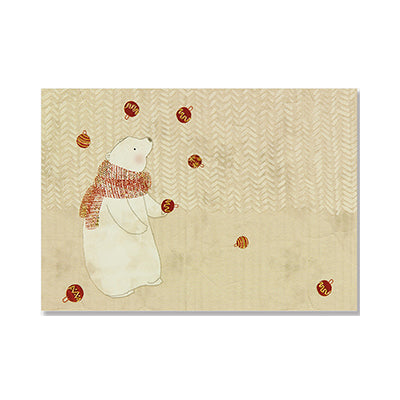 Juggling Polar Bear Box Card