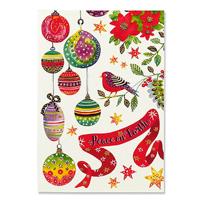 Birds and Ornaments Box Card