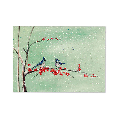 Birds and Berries Box Card