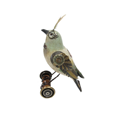 Bird on Wheels Figurine