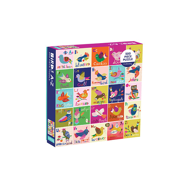 Birds A-Z puzzle (500 pieces) - New-York Historical Society Museum Store