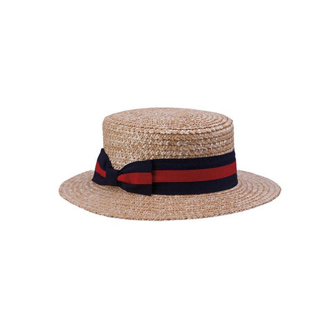 Men's Boater Hat - Red