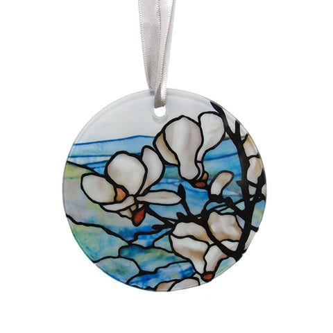 Louis C Tiffany Magnolia Glass Ornament