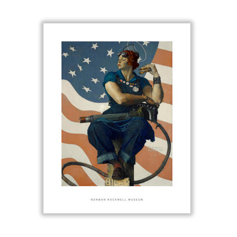 Rosie the Riveter Matted Print
