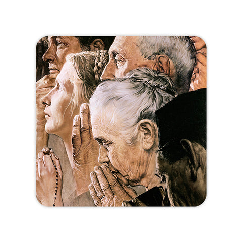Norman Rockwell Freedom of Worship Coaster