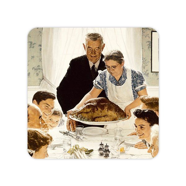 Norman Rockwell Freedom from Want Coaster