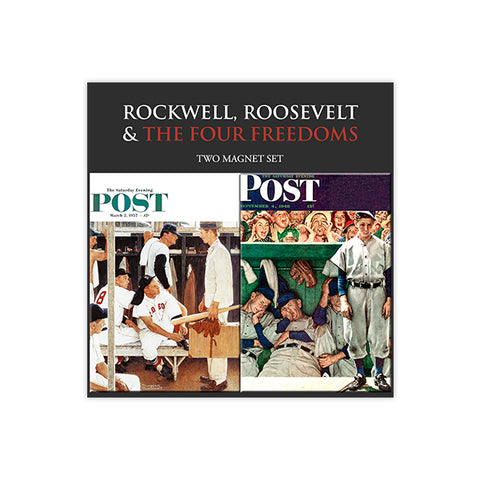 Rockwell Baseball Cover Magnet Set