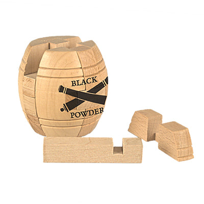 Black Powder Barrel Wood Puzzle