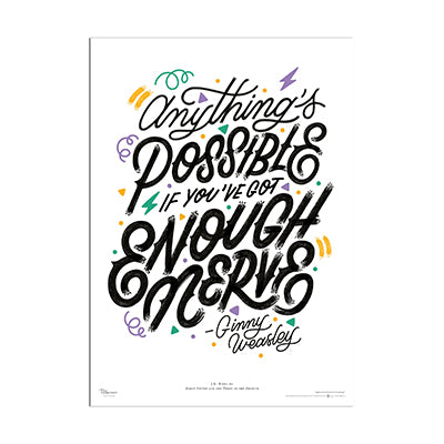Harry Potter Anything's Possible Quote Poster