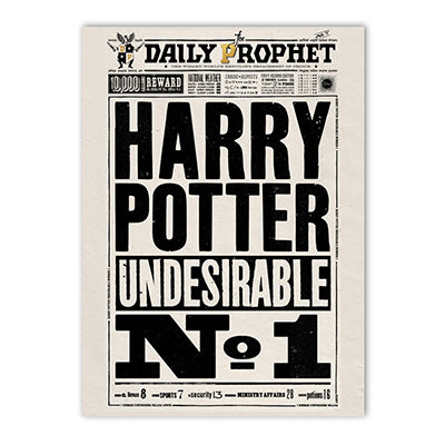 Harry Potter - The Daily Prophet Undesirable No.1 Poster