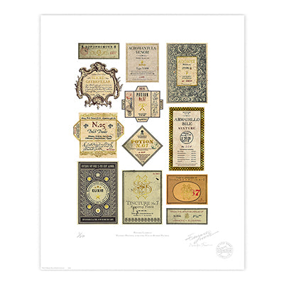 Harry Potter - Potion Labels Limited Edition Print