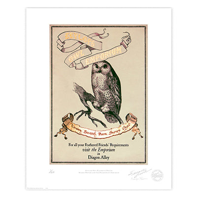 Harry Potter - Eeylops Owl Emporium Limited Edition Print