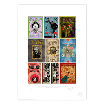 Harry Potter - Book Covers from Hogwarts Limited Edition Print