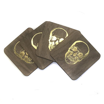 Gold Skull Coaster Set